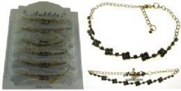 72 Wholesale GolD-Tone Chain With Round And Diamond Shaped Crystal Accents