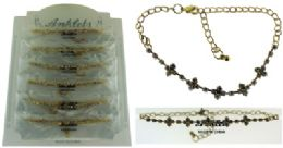 72 Wholesale GolD-Tone Chain With Multiple Cross Shaped Accents And Round Crystal Accents
