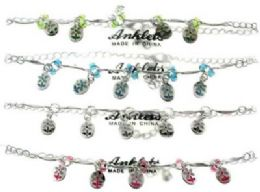 72 Wholesale SilveR-Tone Chain With Flower Charms