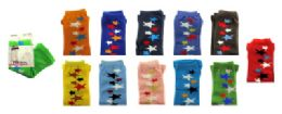 48 Bulk Assorted Colored Capri Tights With Star Designs In A Scattered Line