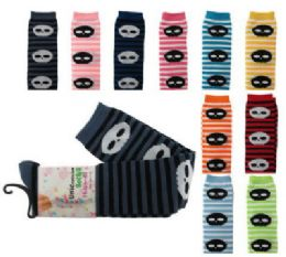 48 Bulk Assorted Colored Thigh High Socks With Skulls And Stripes Designs