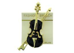 36 Bulk Large Violin Brooch Pin