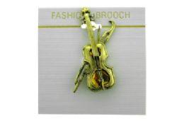 36 Bulk Violin Brooch Pin