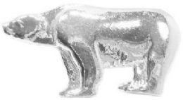 36 Wholesale Silver Tone Bear Pins