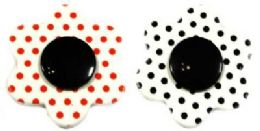 36 Wholesale Polka Dot Flower Pins