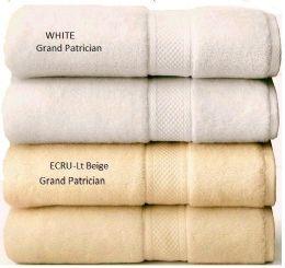 12 Units of Grand Patrician Suites White Bath Towels 30 X 56 - Bath Towels