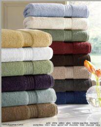 12 Units of Designer Luxury Bath Towels 100% Egyptian Cotton In Smoke Blue - Bath Towels