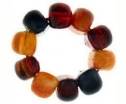 72 Bulk Multicolor Acrylic Beads On Elastic