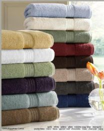 12 Units of Designer Luxury Bath Towels 100% Egyptian Cotton In Charcoal - Bath Towels