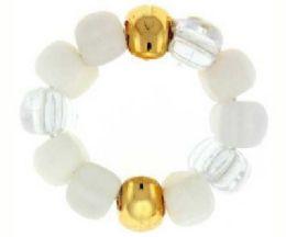 72 Bulk Assorted Color White Beads