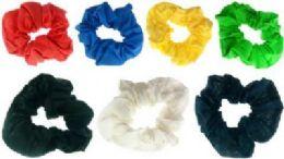 72 Bulk Assorted Color Scrunchies