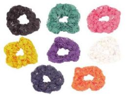 72 Bulk Assorted Color Crochet Look Scrunchies