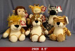 "24 Bulk 8.5"" Plush Jungle Animal Set"