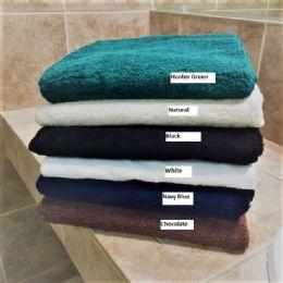 6 Units of Plush Loop Terry Bath Towel Dobby Hem Long Lasting Soft And Durable In Hunter Green - Bath Towels