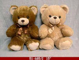 """12 Bulk 15"""" Soft Plush Bear"""