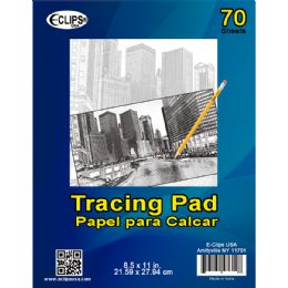 36 Units of Tracing Pad, 8.5x11, 70 Sheets - Sketch, Tracing, Drawing & Doodle Pads