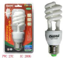 72 of 9 Watt Energy Saving Spiral Lightbulb