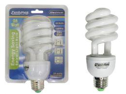 72 of 28 Watt Energy Saving Spiral Lightbulb