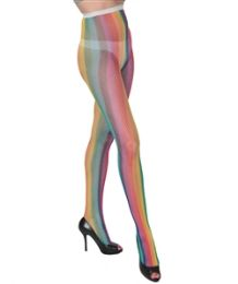 36 Bulk Queen Size Ladies Printed Tights