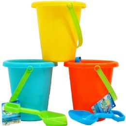48 Units of Beach Toy Bucket With Shovel - Beach Toys