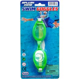 """96 Units of 6"""" Swimming Goggles On Blister Card - Summer Toys"""