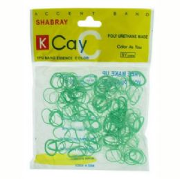 72 Bulk Green And Clear Mini Rubber Bands