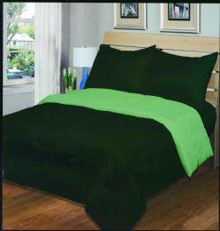 6 Units of Luxury Reversible Comforter Blanket Full Size 76 X 86 Hunter Green Sage - Blankets & Bedding