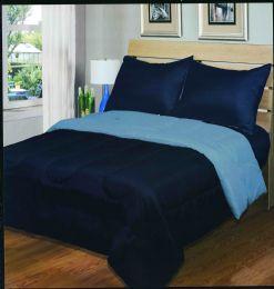 6 Units of Luxury Reversible Comforter Blanket Full Size 86 X 86 Navy Light Blue - Blankets & Bedding