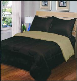 3 Units of Luxury Reversible Comforter Blanket King Size 101 X 86 Chocolate Taupe - Blankets & Bedding