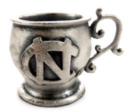 16 Bulk Small Mug Made Of Pewter With The University Of North Carolina Symbol