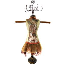 4 Units of Tan And Brown Ornate Jewelry Display Doll - Displays & Fixtures