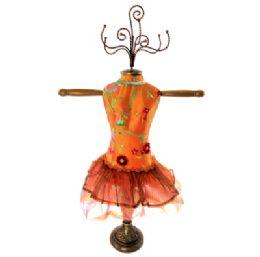 4 Units of Orange Ornate Jewelry Display Doll - Displays & Fixtures