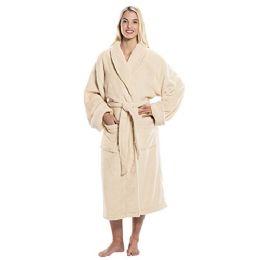 4 Bulk Tahoe Fleece Shawl Collar Robe In Beige