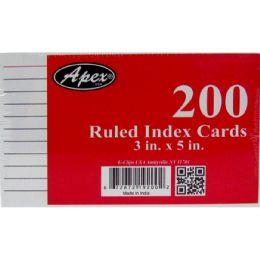 36 Bulk Index Cards, 3x5, 200 Pk, White, Ruled