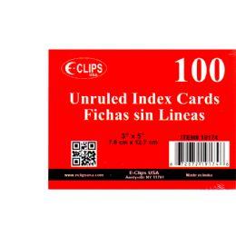 72 Bulk Index Cards, 3x5, 100 Pk, White, Unruled