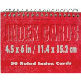 72 Bulk Spiral Index Cards, 4x6 50 Pk, White Ruled