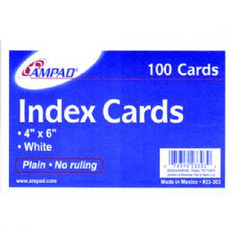 40 Bulk Ampad Index Cards 4x6, 100 Pk, White, Unruled