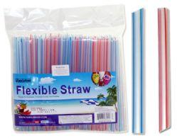 48 Units of 50 Pc Jumbo Flexible Straws - Straws and Stirrers