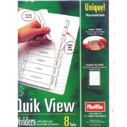 48 Wholesale Postfax Quick View Tab Dividers 5pk.w/wrap Around Labels