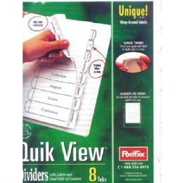 48 Wholesale Postfax Quick View Tab Dividers 8pk.w/wrap Around Labels