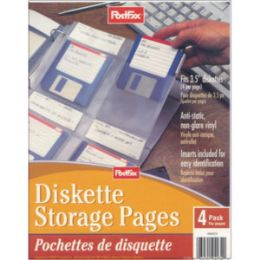 40 Units of Post Fax Diskette Storage Pages 4pk. - Tab Dividers