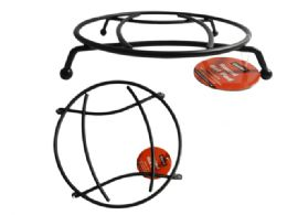 24 Units of Black Round Metal Hot Pad Trivet - Coasters & Trivets