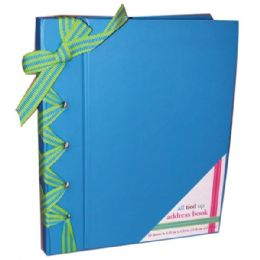 "48 Bulk Address Book, Blue 6.25""x 5.25"""