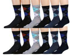 120 of Mens Classic Argyle Dress Socks