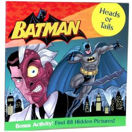 "48 Bulk Batman ""heads Or Tails"" Book Plus Bonus Activity"