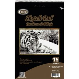"""12 Units of 15 Sheet Sketch Pad - 14"""" X 22"""" - Sketch, Tracing, Drawing & Doodle Pads"""