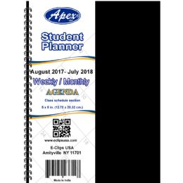 60 Bulk 2017 - 2018 Student Agenda, Double Wire, 5x8, Blue, Red