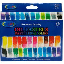 48 Units of Oil Pastels 24 Pack - Art Paints