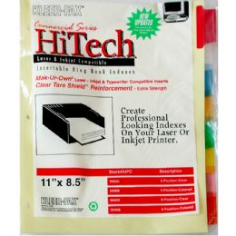 90 Wholesale Keer Fax 8 Clear Tab Dividers