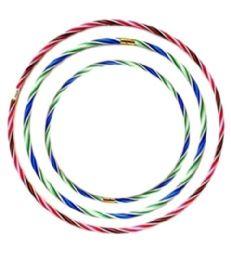 108 Units of Hula Hoop 1.9cm Plastic ,75cm 65cm 55cm - Summer Toys